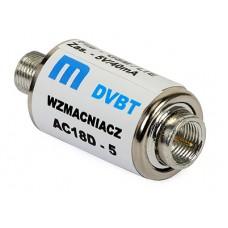 Amplificator DVB-T2 inline AC18UV (5V pe cablu)