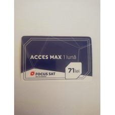Cartela reincarcare Acces Max 1 Luna