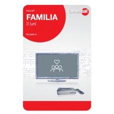 Cartela de reincarcare Focussat R3- Familia - 3 LUNI