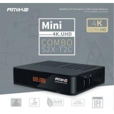 Receptor de Cablu sau Terestru si de Satelit Amiko Mini 4K UHD Combo