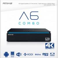 Receptor de Cablu sau Terestru si de Satelit Amiko A6 4K Android Combo