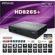Receptor de Cablu sau Terestru si de Satelit Amiko HD 8265+ Combo